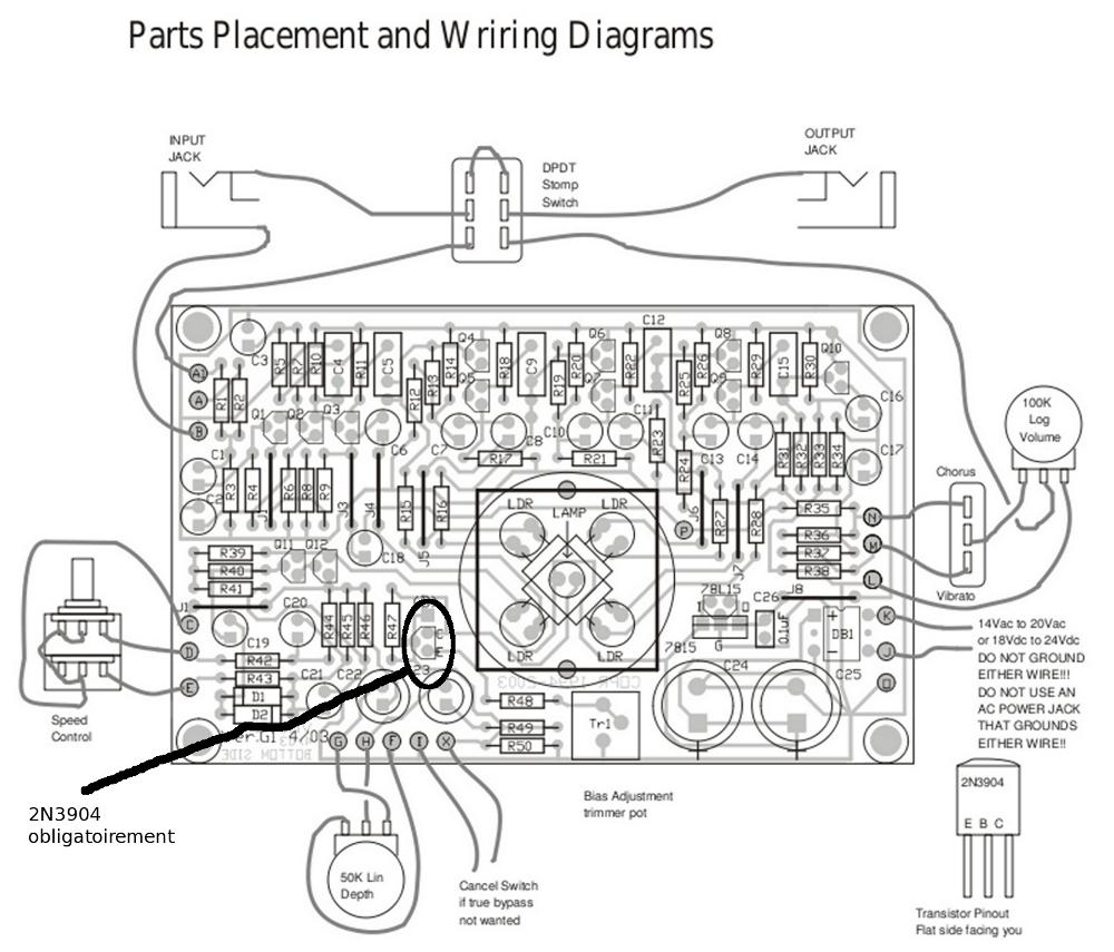 La Neovibe Une Vibe Diy Pour Approcher Du Son Hendrix Guitar Univibe Pedal Wiring Diagram Pcb Placement Transistorsjpeg